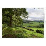 Sycharth en Powys, País de Gales, durante equinocc Tarjetón