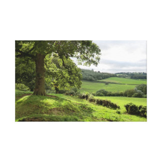 Sycharth in Powys, Wales, During Autumn Equinox Canvas Print