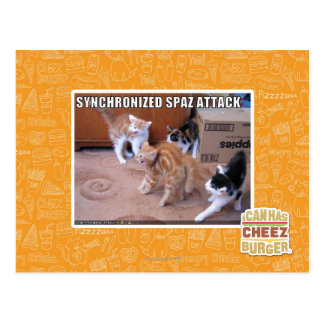 Sychronized Spaz Attack Postcard