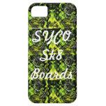 SYCO SK8 SUBE a la cubierta verde multi del iPhone 5 Case-Mate Protector