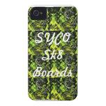 SYCO SK8 SUBE a la cubierta verde multi del iPhone 4 Case-Mate Fundas