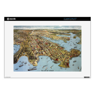 "sydney1888 decal for 15"" laptop"
