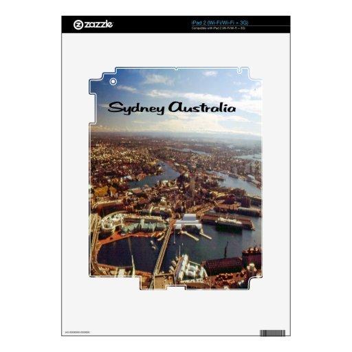Sydney as seen from the Sydney Harbor Bridge Skins For iPad 2