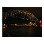 sydney at night post card