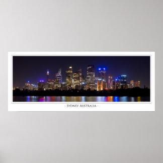 Sydney at Night Poster
