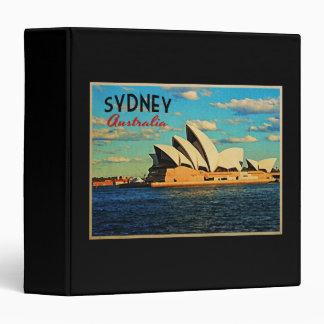 Sydney Australia 3 Ring Binder