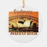 SYDNEY Australia Adorno Navideño Redondo De Cerámica