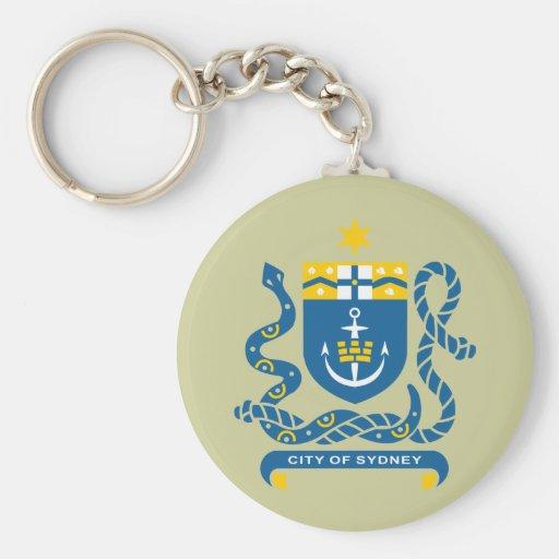 sydney, Australia Basic Round Button Keychain