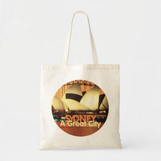 SYDNEY Australia Budget Tote Bag