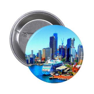 sydney australia buildings skyscrapers skyline pinback buttons