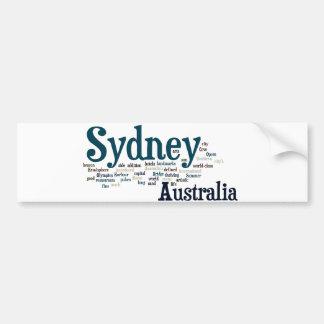 Sydney, Australia Etiqueta De Parachoque
