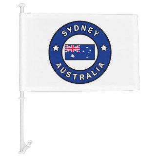 Sydney Australia Car Flag
