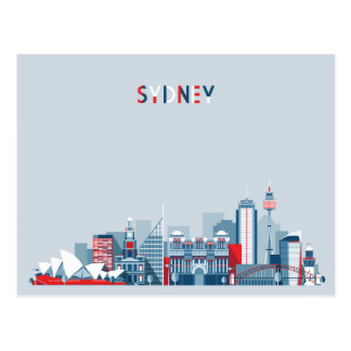 Sydney Australia City Skyline Postcard