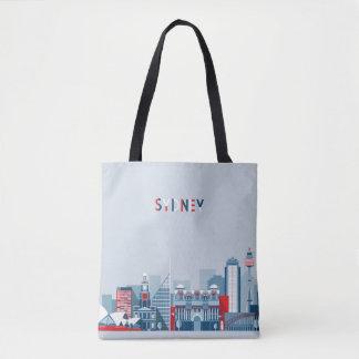 Sydney Australia City Skyline Tote Bag