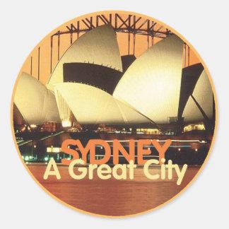 SYDNEY Australia Classic Round Sticker
