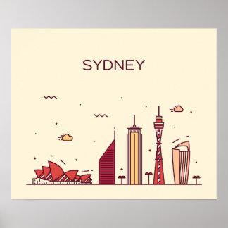 Sydney, Australia   Doodle Skyline Poster
