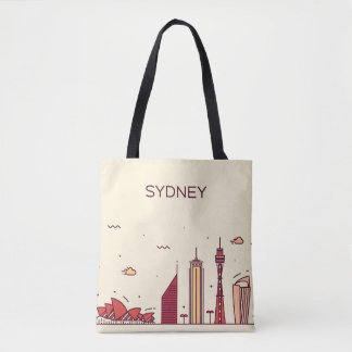 Sydney, Australia   Doodle Skyline Tote Bag