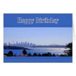 Sydney, Australia, feliz cumpleaños del horizonte Tarjeta De Felicitación
