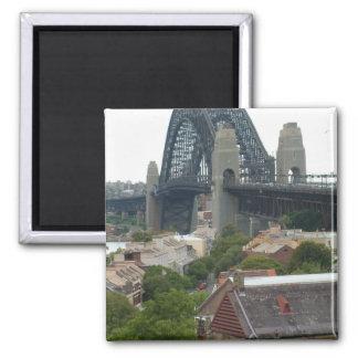 Sydney, Australia. Harbour Bridge. 2 Inch Square Magnet