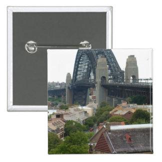 Sydney, Australia. Harbour Bridge. Pinback Buttons