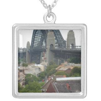 Sydney, Australia. Harbour Bridge. Square Pendant Necklace