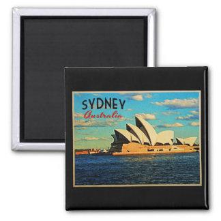 Sydney Australia Imán Cuadrado
