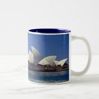 Sydney Australia Opera House Travel Two-Tone Coffee Mug