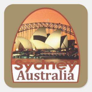 SYDNEY Australia Pegatina Cuadrada