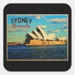 Sydney Australia Pegatina Cuadradas