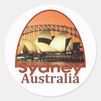 SYDNEY Australia Pegatina Redonda
