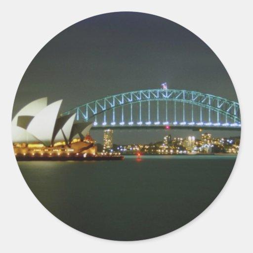 Sydney, Australia Pegatinas Redondas