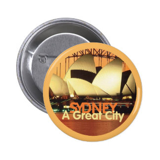 SYDNEY Australia Pin Redondo 5 Cm