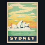 "Sydney, Australia Postcard<br><div class=""desc"">Anderson Design Group is an award-winning illustration and design firm in Nashville,  Tennessee. Founder Joel Anderson directs a team of talented artists to create original poster art that looks like classic vintage advertising prints from the 1920s to the 1960s.</div>"