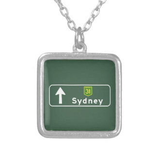 Sydney, Australia Road Sign Custom Jewelry