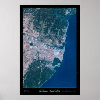 Sydney Australia satellite poster photo print map