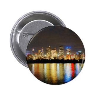 Sydney Australia Skyline Button