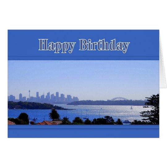 Sydney Australia Skyline Happy Birthday Card – Birthday Card Australia