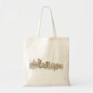 Sydney Australia Skyline Sheet Music Cityscape Tote Bag