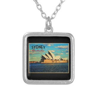 Sydney Australia Square Pendant Necklace