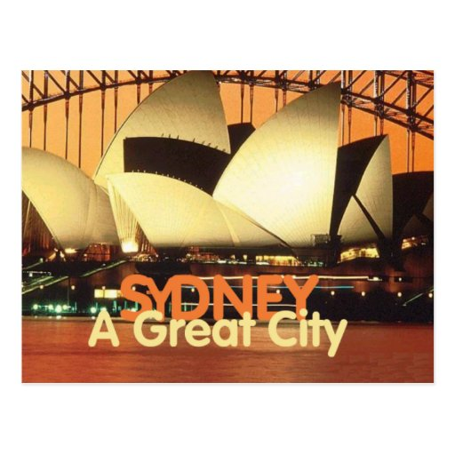 SYDNEY Australia una gran postal del teatro de la