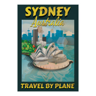 Sydney,Australia vintage travel poster