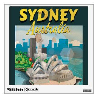 Sydney,Australia vintage travel poster Room Decals