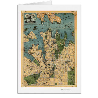 Sydney, AustraliaPanoramic Map Greeting Card