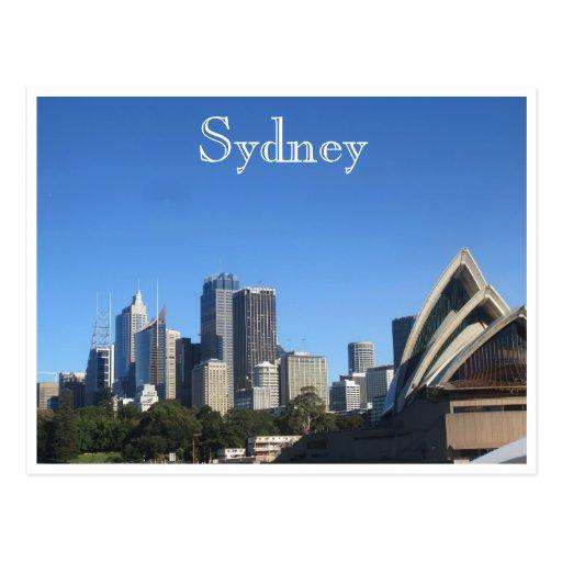 sydney blue postcard