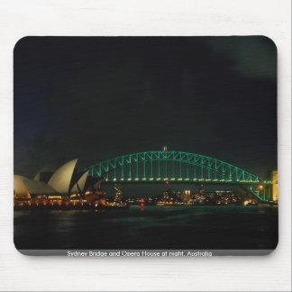 Sydney Bridge and Opera House at night Australia Mousepad