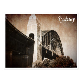 sydney bridge antique postcard