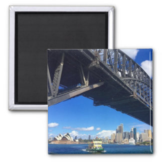 sydney bridge ferry 2 inch square magnet