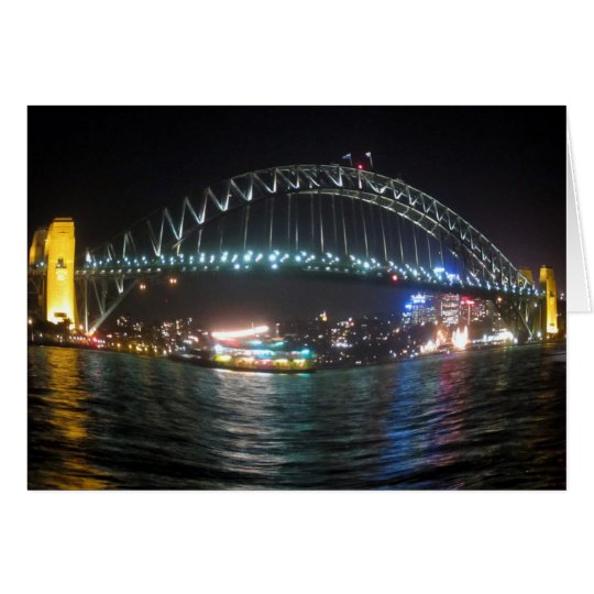 sydney bridge fisheye card