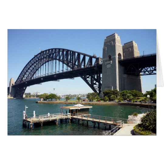 sydney bridge wharf card