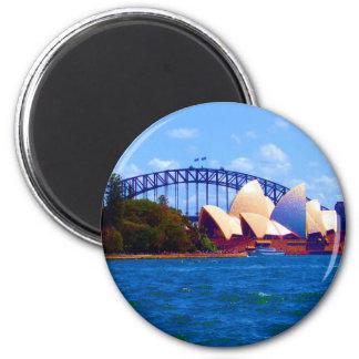 sydney bright day 2 inch round magnet